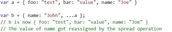spread operator typescript
